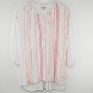Gibson & Latimer Embroidered Tunic White NWT Small